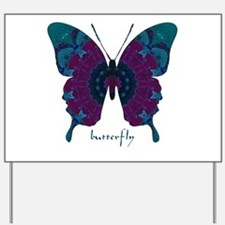 Luminescence Butterfly Yard Sign