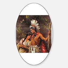 Cool Native american woman Sticker (Oval)
