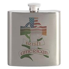 Irish American Celtic Cross Flask