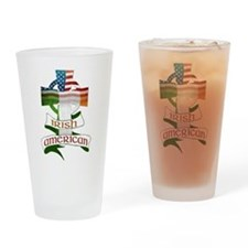 Irish American Celtic Cross Drinking Glass