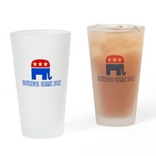 Elephant with Romney/Ryan Drinking Glass