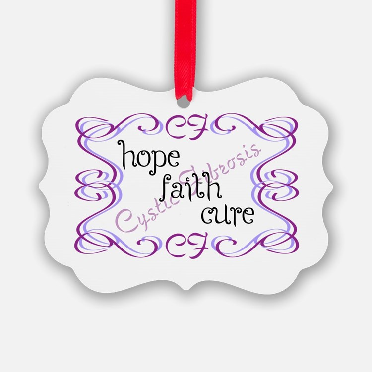 CF Hope Faith Cure Curls Ornament