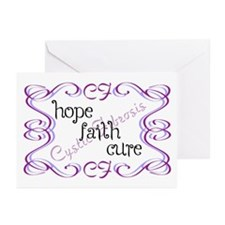 CF Hope Faith Cure Curls Greeting Cards (Pk of 20)