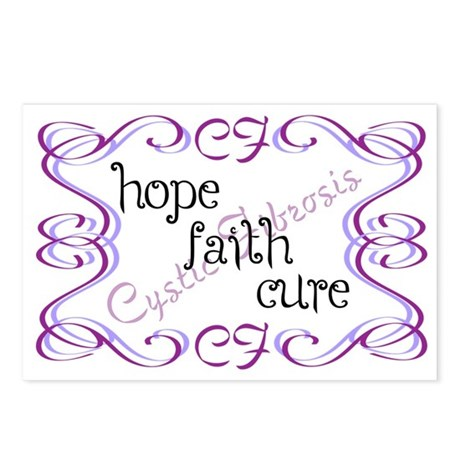 CF Hope Faith Cure Curls Postcards (Package of 8)
