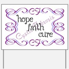 CF Hope Faith Cure Curls Yard Sign