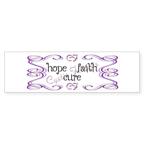 CF Hope Faith Cure Curls Sticker (Bumper)