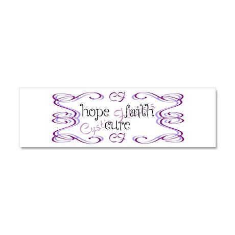 CF Hope Faith Cure Curls Car Magnet 10 x 3