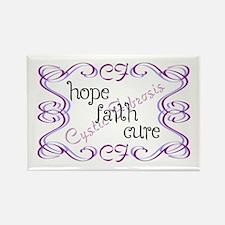 CF Hope Faith Cure Curls Rectangle Magnet