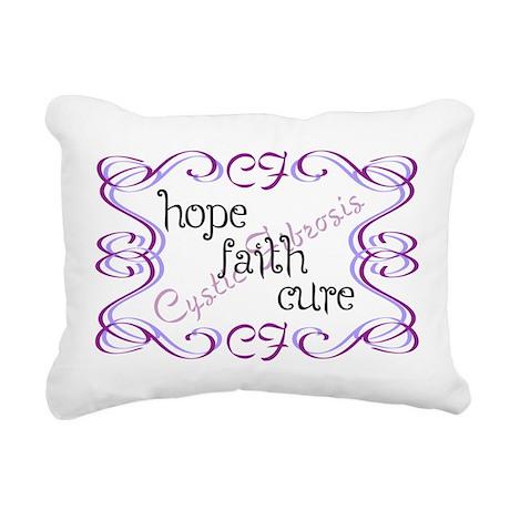 CF Hope Faith Cure Curls Rectangular Canvas Pillow