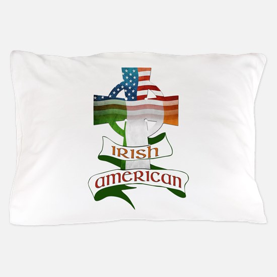 Irish American Celtic Cross Pillow Case