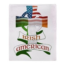 Irish American Celtic Cross Throw Blanket