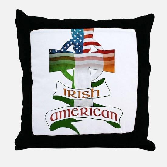 Irish American Celtic Cross Throw Pillow