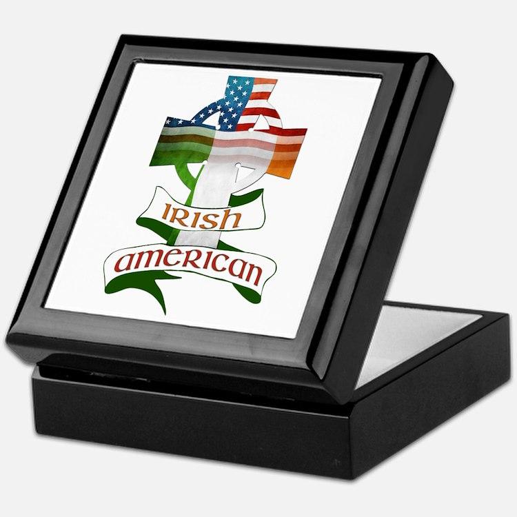 Irish American Celtic Cross Keepsake Box