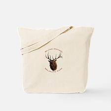 bull elk charging Tote Bag