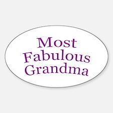 Most Fabulous Grandma Sticker (Oval)
