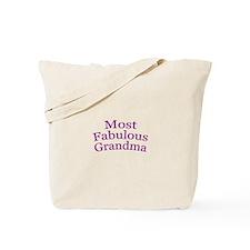 Most Fabulous Grandma Tote Bag