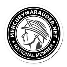 MercuryMarauder.Net Round Car Magnet