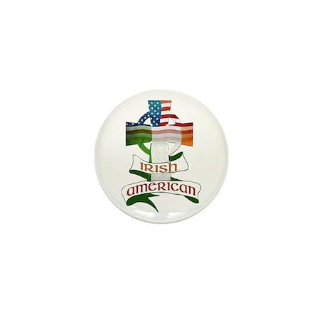 Irish American Celtic Cross Mini Button (100 pack)