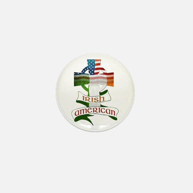 Irish American Celtic Cross Mini Button