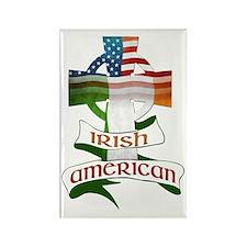 Irish American Celtic Cross Rectangle Magnet (10 p