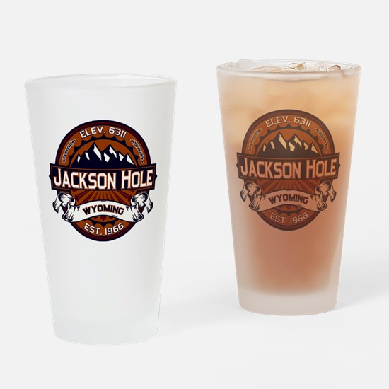 Jackson Hole Vibrant Drinking Glass