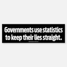 Government Statistics Sticker (Bumper)