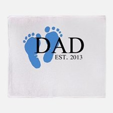 Dad, Est. 2013 Throw Blanket