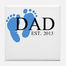Dad, Est. 2013 Tile Coaster