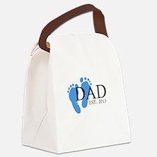 Dad, Est. 2013 Canvas Lunch Bag
