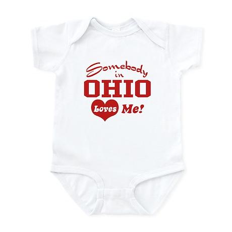 Somebody in Ohio Loves Me Infant Creeper