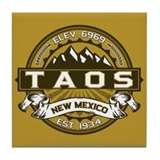 Taos Gold Tile Coaster