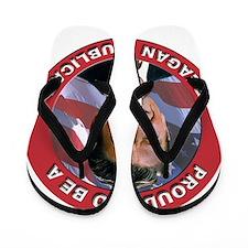 Proud Reagan Republican Flip Flops