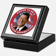 Proud Reagan Republican Keepsake Box