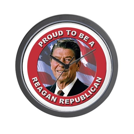 Proud Reagan Republican Wall Clock