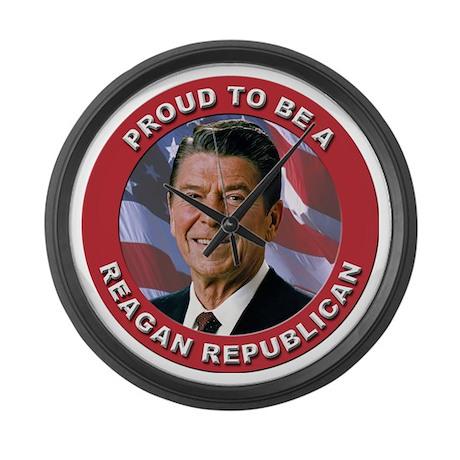 Proud Reagan Republican Large Wall Clock