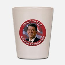 Proud Reagan Republican Shot Glass