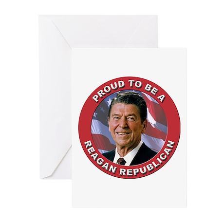 Proud Reagan Republican Greeting Cards (Pk of 20)