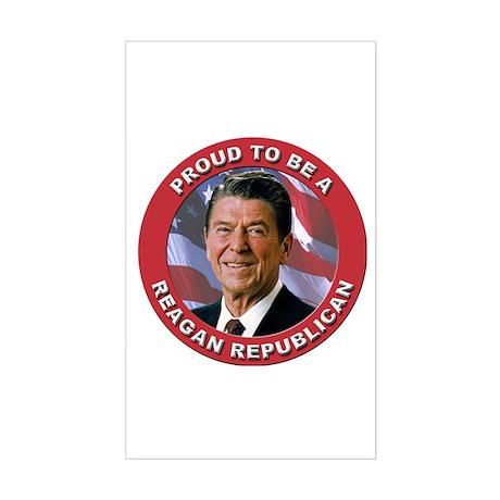 Proud Reagan Republican Sticker (Rectangle)