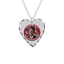 Proud Reagan Republican Necklace