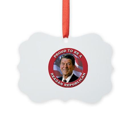 Proud Reagan Republican Picture Ornament