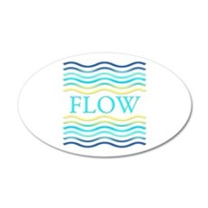 Flow 35x21 Oval Wall Decal