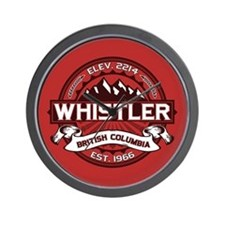 Whistler Red Wall Clock