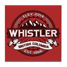 Whistler Red Tile Coaster