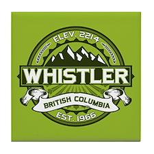 Whistler Green Tile Coaster