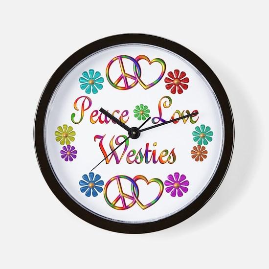 Westies Wall Clock