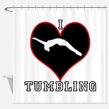 I LOVE TUMBLING Shower Curtain
