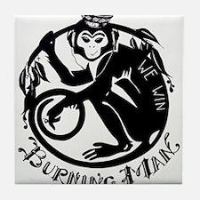 Laughing Monkey Burning Man Logo 2012 Tile Coaster