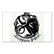 Laughing Monkey Burning Man Logo 2012 Decal