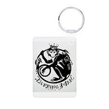 Laughing Monkey Burning Man Logo 2012 Aluminum Pho