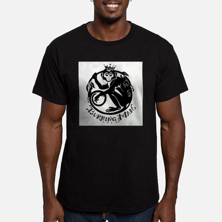 Laughing Monkey Burning Man Logo 2012 T